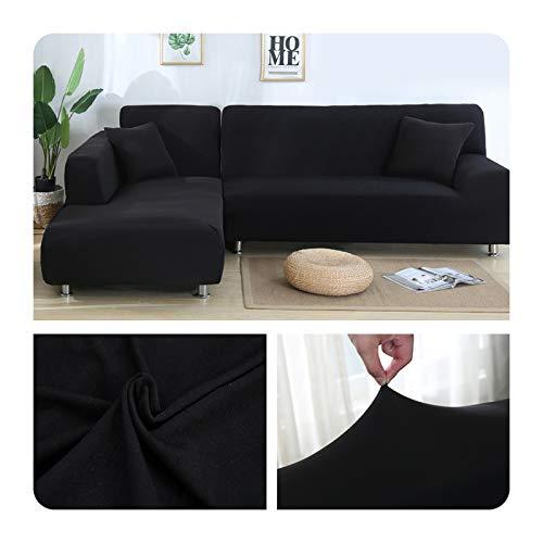 ZaHome Funda elástica de sofá para sala de estar, esquina en U, funda de sofá todo incluido, fundas de sofá en forma de L necesitan comprar 2 piezas - 006-2 plazas y 4 plazas