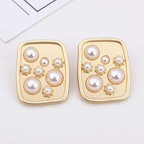 HMYDZ Flower Stud Earrings For Women Temperament Minimalist Fashion Gold Color Metal Earring Jewelry (Color : EK1430)
