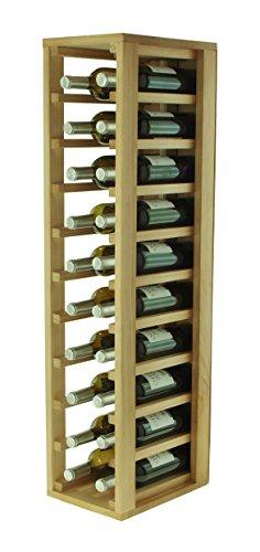 Flessenhouder, hout, eiken, 24 x 32 x 105 cm