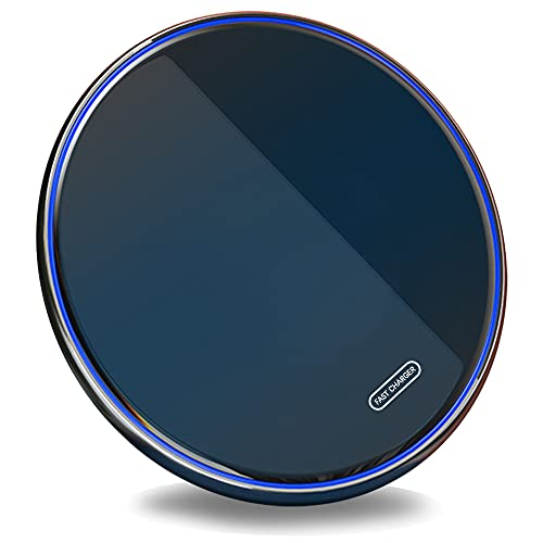 SCCVEE Kabelloses Ladegerät, Qi 15W max Induktive Ladestation, wireless charger, kompatibel mit Samsung S20/fe/Ultra/Note20.Pixel4, LG, Google, Nokia, Xiaomi & mehr (15W-01)
