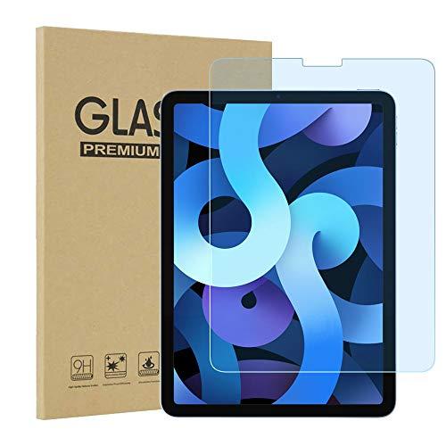 iPad Air 4 ブルーライトカット ガラスフィルム 【ブルーライト93%カット】 強化ガラス 目の疲れ軽減 保護フィルム 高透過率 日本製旭硝子素材 9H硬度 気泡ゼロ 飛散防止 指紋防止iPad Air 4 (2020) 対応 専用