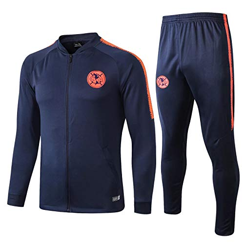 Football Suit Jacket Mexico Team Appearance Suit Club Amcom233;rica Autumn und Winter Training Suit Set 19~20 Saphirblau