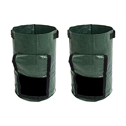 Big Save! Yard Waste Bags 2 Pcs Organic Waste Kitchen Garden Yard Compost Bag Environmental Cloth Pl...