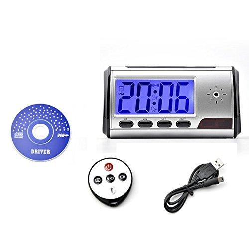 Blu-Ray Reloj Despertador Digital de Mini DVR Cámara Oculta Espía con Detector de Movimiento + Control Remoto
