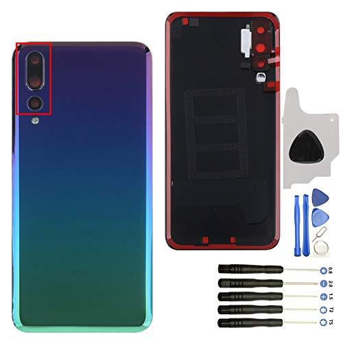 YWL-OU Tapa de Batería para Smartphone para Huawei P20 Pro Tapa de Batería, Tapa Trasera con Una Serie de Herramientas Multifunción (Iridiscente)