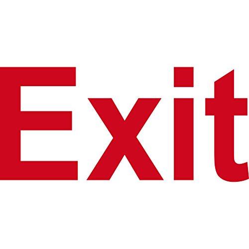 Aufkleber Schriftzug Exit 13cm Tattoo Wandtattoo Deko Folie Tür Fluchtweg Beschriftung (rot)