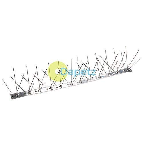 Dapetz® 10Pk Acier Inoxydable Oiseau - Pointes 500mm (4 Spike) Acier Inoxydable Base & Pointes