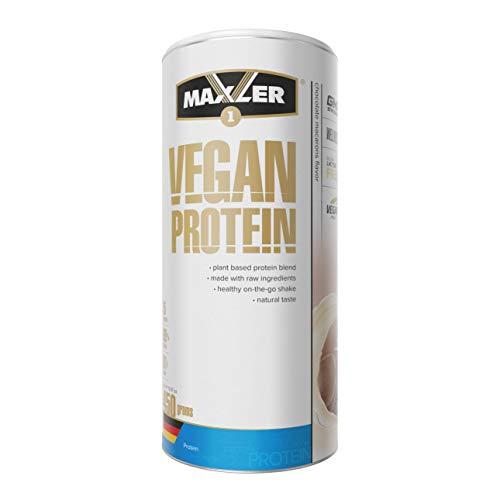 Maxler Vegan Protein Pulver Laktosefrei & ohne Zucker - Schoko-Macarons - reich an Eiweiß veganes Proteinpulver - pflanzliches Eiweißpulver Vegan aus Erbsen, Reis, Hanf & Johannisbrot - 450g