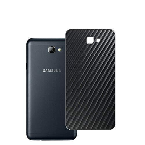 Vaxson 2 Unidades Protector de pantalla Posterior, compatible con Samsung Galaxy On5 2016 G5700 J5 Prime, Película Protectora Espalda Skin Cover - Fibra de Carbono Negro