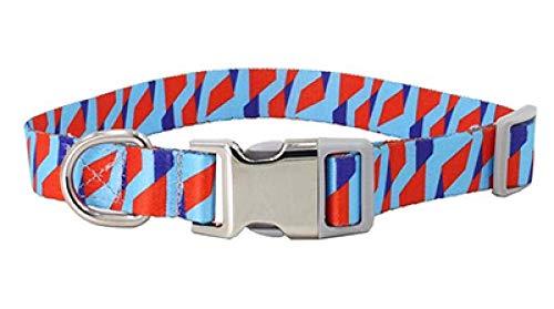 Collar de Perro con Grabado Personalizado Personalizado, Cuero Ajustable, Nombre de Mascota, Collar de identificación de Perro, Nombre, Collar de Perro-Pink_L