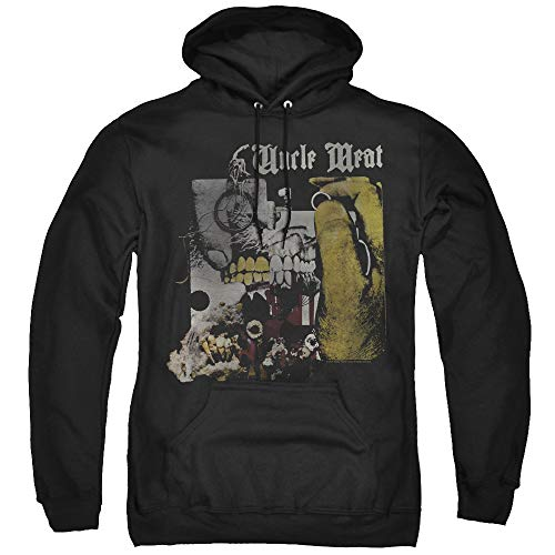 Trevco Frank Zappa Uncle Meat Unisex Adult Pull-Over Hoodie for Men and Women, X-Large Black