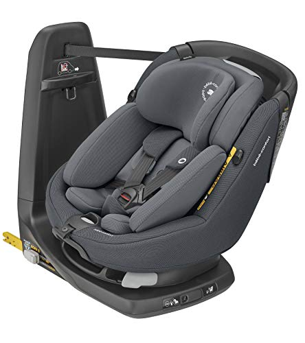 Bebe Confort Axissfix Plus - Asiento de coche Isofix 0-18 kg, giratorio 360°, reclinable, con cojín reductor para recién nacidos sillita para coche Authentic Graphite