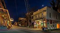 大人のパズル1000ピース-アメリカの家の夜ユーレカスプリングアーカンソーストリートジグソーパズル大人、家族、子供向け。教育ゲーム玩具の家の装飾(27.56inx19.69in)