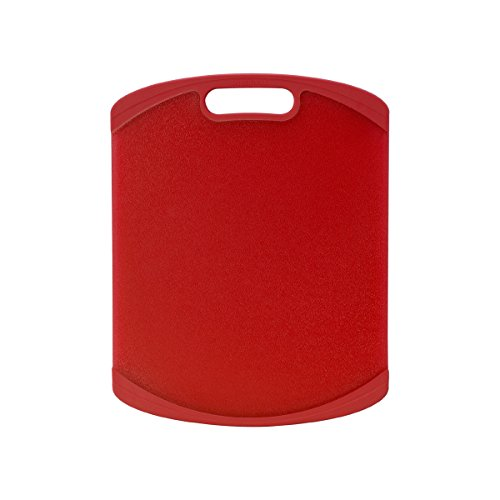 Farberware Nonslip Plastic Cutting Board, 11-Inch-by-14-Inch, Red