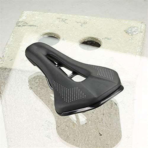 Bike Selle for Shimano PRO Stealth Sella della Bicicletta, Sella della Bici in Acciaio Inossidabile Rotaie della Bicicletta della Strada Sedile Un'Ampia Sella con Il Foro (Colore : Black)