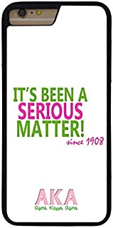 Alpha Kappa Alpha Sorority Phone Case for iPhone 7 Plus, iPhone 8 Plus, Pattern CustomHong-346, Pretty Cell Phone Protective Cover for Women