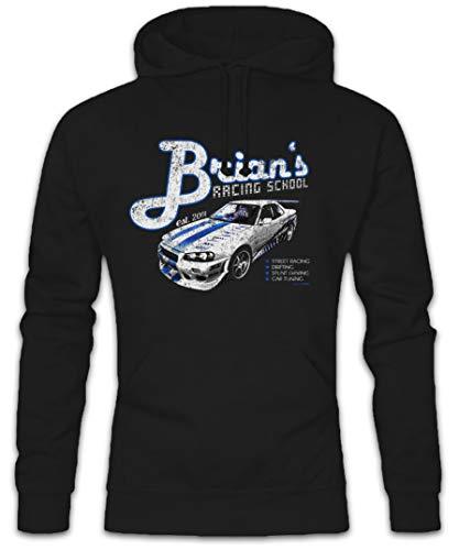 Urban Backwoods Brian`S Racing School Hoodie Kapuzenpullover Sweatshirt Schwarz Größe L