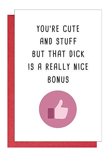 Sexy Anniversary Card, Funny Birthday Card, Naughty Valentine's Day Card for Boyfriend Hubby Him