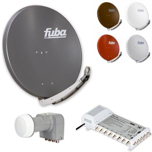 Fuba DAA 850 HD Sat Anlage - 8 Teilnehmer (FMS 508) - Sat Anlage bestehend aus Fuba DAA 850 in Ihrer Wunschfarbe + Fuba DEK 406 Quattro LNB + Fuba FMS 508