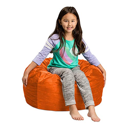 Sofa Sack - Plush, Ultra Soft Kids Bean Bag Chair - Memory Foam Bean Bag Chair with Microsuede Cover - Stuffed Foam Filled Furniture and Accessories For Kids Room - 2' Orange