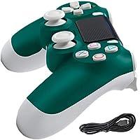 PS4 コントローラー 無線 Bluetooth接続 PS4ゲームパッドは振動機能、内蔵スピーカー、LEDライトバー、イヤホンジャック、充電ケーブル,グリーン