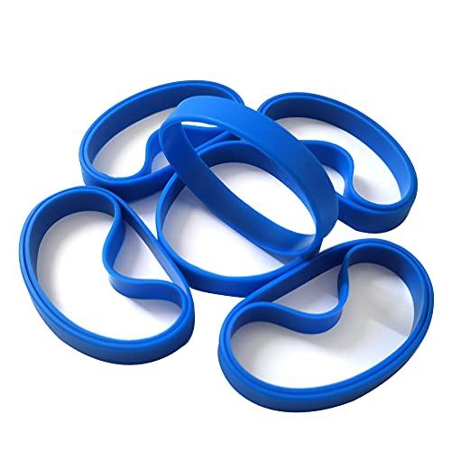 LVNRIDS Pulseras de silicona 100 pcs, pulsera elástica de goma para fiestas deportivas por niños niñas Azul