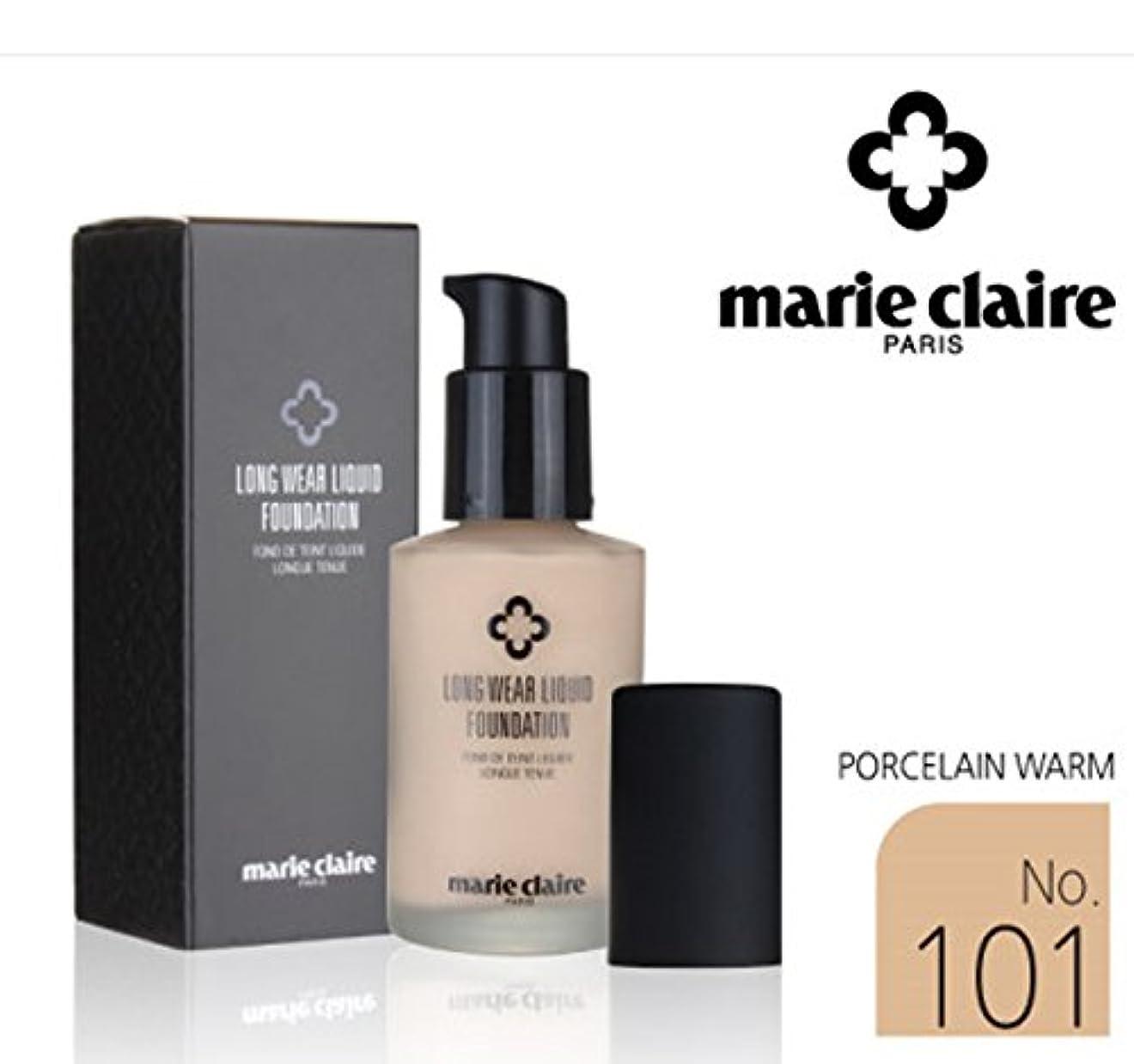 どこバンドベスビオ山[Marie Claire] ロング着用リキッドファンデーションSPF31 PA++30ml / Long Wear Liquid Foundation SPF31 PA ++ 30ml / NO.101 Porcelain Worm / NO.101磁器ワーム / 美白、シワ、紫外線 / whitening, wrinkles, UV ray / 韓国化粧品 / Korean Cosmetics [並行輸入品]