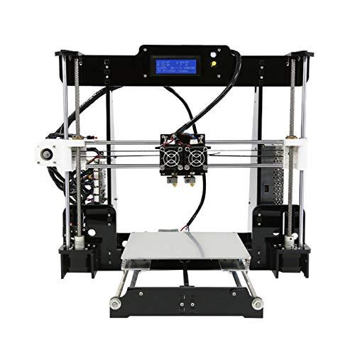 Z.L.FFLZ Imprimante 3D A8 M Haute Précision De Bureau 3D Imprimante Reprap I3 DIY Auto-Assemblée MK8 Extrudeuse Buse Acrylique Cadre LCD Écran