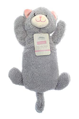 Wärmflasche mit Einhorn Mops Pinguin Affe Plüsch Super Soft Cover Premium Naturkautschuk 1 Liter Hot Water Bag - hilft Wärme und Komfort zu bieten (graue Katze)