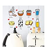 Mtahskhsh Diy Pegatinas De Pared Extraíbles Restaurante / Cocina / Utensilios De Cocina Punta / Pegatina De Nevera Calcomanías De Pared De Cocina