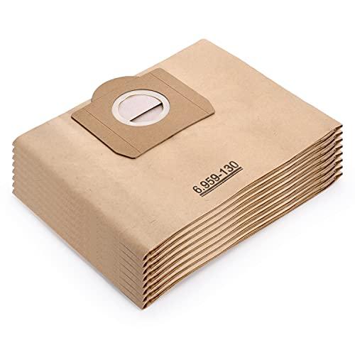 Artraise Staubsaugerbeutel für Kärcher 6.959-130.0 8 Stück Papierfilterbeutel passend für WD 3 MV 3 A 2201/2204/2504