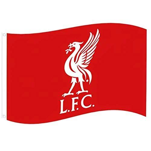 Liverpool FC Unisex– Erwachsene FC Liverpool YNWA Fahne 90 x 150 cm, Rot, M
