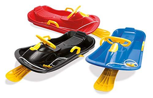 Dantoy - Bobschlitten mit Bremse, Steuerrutsche für Winterschnee, hergestellt in Dänemark (verschiedene Farben)