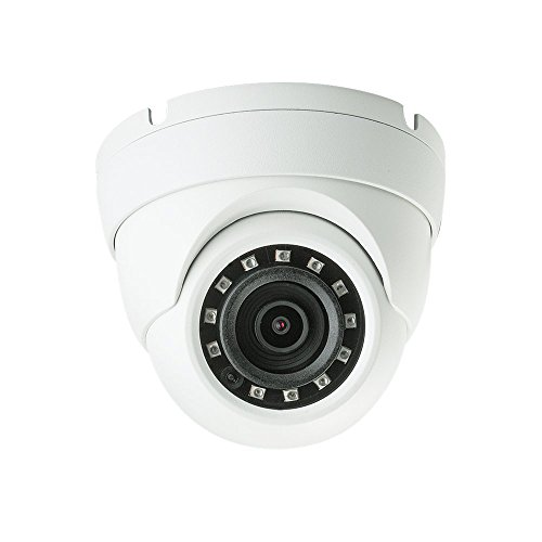 Dahua HAC-HDW1220M 2 Megapixel HD-CVI Eyeball IR Dome Security Camera, 2.8mm Lens 100FT Night Vision Outdoor IP66 4-IN-1 UTC Switchable (AHD, TVI, CVI, CVBS) White 2MP