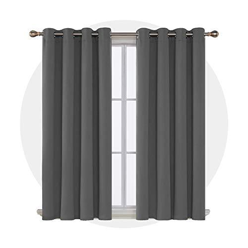Deconovo Cortinas Termicas Aislantes Frio y Calor para Dormitorio Matr