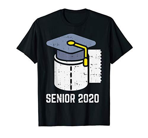 Toilet Paper Graduation Hat Senior 2020 Quarantined Gift T-Shirt
