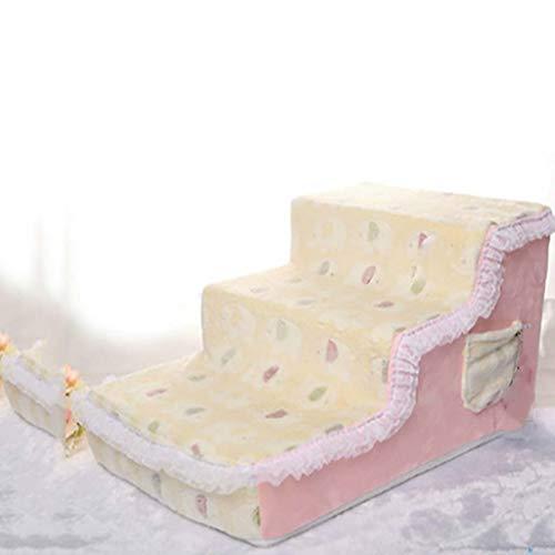 Sponge huisdier trappen, afneembare Cover 3 -Steps Anti-Slip Hond Trappen Zachte Eenvoudige Klim Sofa Bed Ladder Veelzijdige Huisdier Bed Ladder Hond Stappen 65x40x35cm(26x16x14inch) C