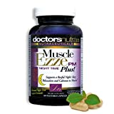 Natural Sleep Aid Muscle Ezze PM Plus Night Time Capsules by Doctors Nutra Nutraceuticals - Sleep Aid, Nighttime Use, Naturally Derived Ingredients - Safe and Effective - Gluten-Free - 60 Capsules