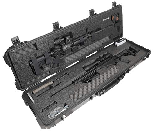 Case Club Precision and AR Rifle Pre-Cut Waterproof Case with Accessory Box and Silica Gel to Help Prevent Gun Rust (Gen 2)
