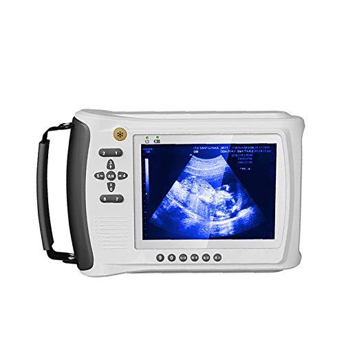 HYRL Probador de Embarazo Veterinario con escáner de ultrasonido con sonda de escaneo de Ventilador mecánico a Prueba de Agua de 3.5MHZ y Pantalla de Alta definición de 5 Pulgadas para cerdas