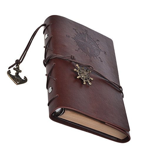 Cosmos Vintage Classic PU Leather Notebook for Diary, Travel journal and Note, Dark Brown (NB2)