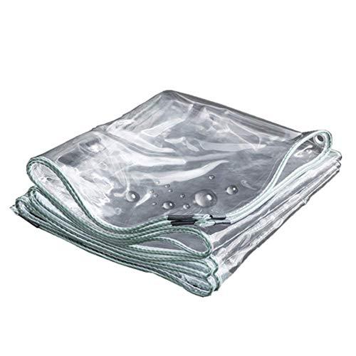 BYCDD Transparant dekzeil, 12 Mil PVC, waterdicht, beschermzeil, houtzeil, scheurbestendig, rondom versterkt zon- en weerbestendig zeil
