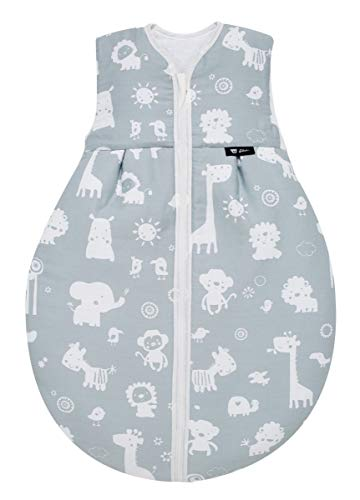 Alvi Baby Kugelschlafsack Molton Zootiere blau 911-1, Größe:90