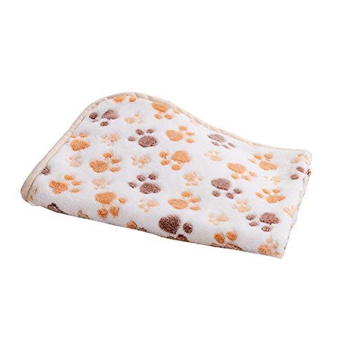 NINIWA Manta gruesa para mascotas, para dormir, para interior, para mascotas, accesorios para gatos, patas, perros, mantas de color crema (80 x 50 cm)