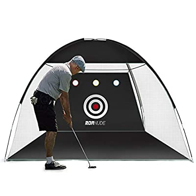 Famies Golf Net,Portable Practice Net for Hitting Chipping and Swing,10ft,7ft,Indoor and Outdoor,Black