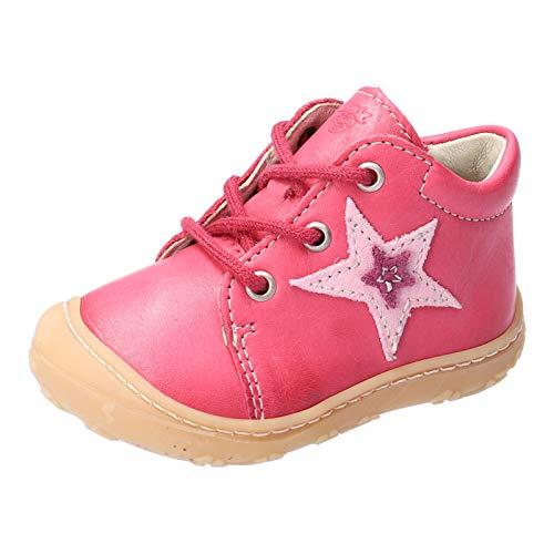 RICOSTA Kinder Stiefel Romy von Pepino, Weite: Mittel (WMS), leger Boots schnürstiefel Leder Kinder Kids Jungen Kinderschuhe,pink,23 EU / 6 Child UK