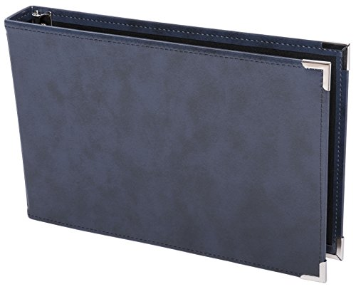 Premium 3UP 7 Ring Business Check Binder w/Zip Pouch (Navy Blue)