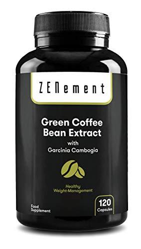 Natürlicher Grüner Kaffee-Extrakt mit Garcinia Cambogia, 120 Kapseln | um Gewicht zu verlieren, Fett zu verbrennen und das Hungergefühl zu verringern | von Zenement