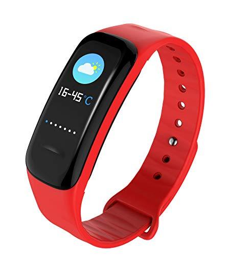 KKART-Farbbildschirm Bluetooth Sport-Schrittzähler Hand-Test Herzfrequenz Schlaf Gesundheit Nachricht Erinnerung rot