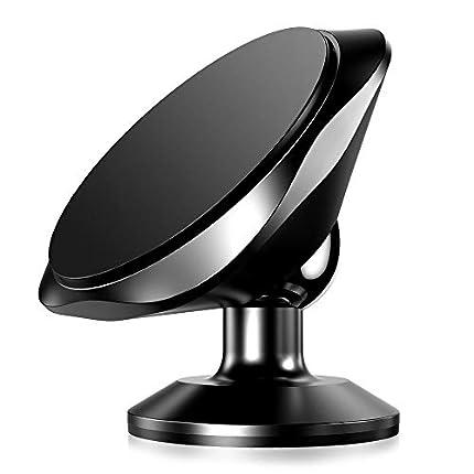 Warxin Soporte Magnético Movil Coche, Mini Móvil Coche Iman para Salpicadero 360° Rotación Universal Soporte Teléfono Magnético Sostenedor para iPhone Samsung Móviles Dispositivo GPS